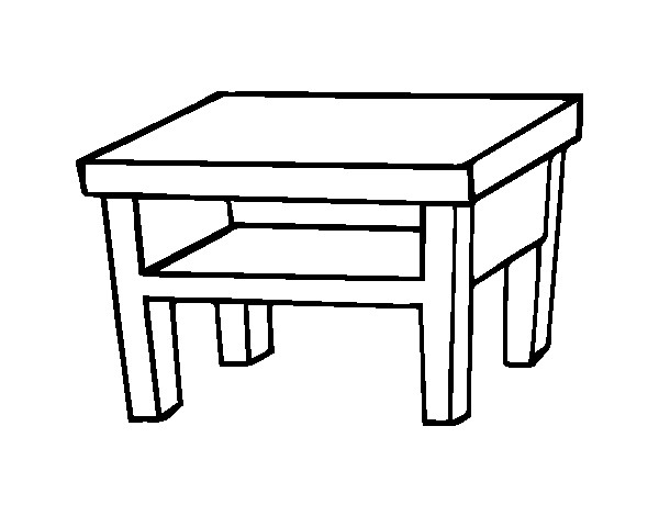 coloriage table vecteur dessin gratuit imprimer. Black Bedroom Furniture Sets. Home Design Ideas