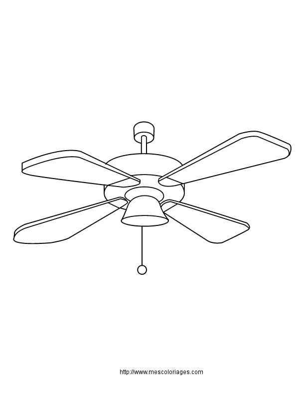 Coloriage et dessins gratuits Un Ventilateur à imprimer