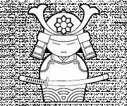 Coloriage Armure de Samourai