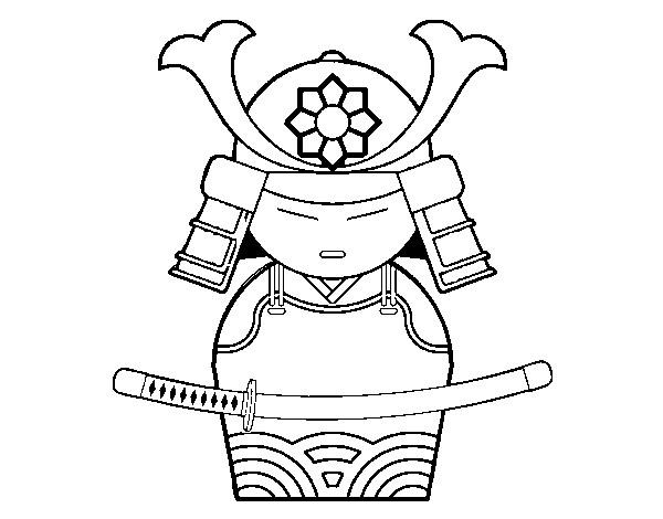 Coloriage et dessins gratuits Armure de Samourai à imprimer
