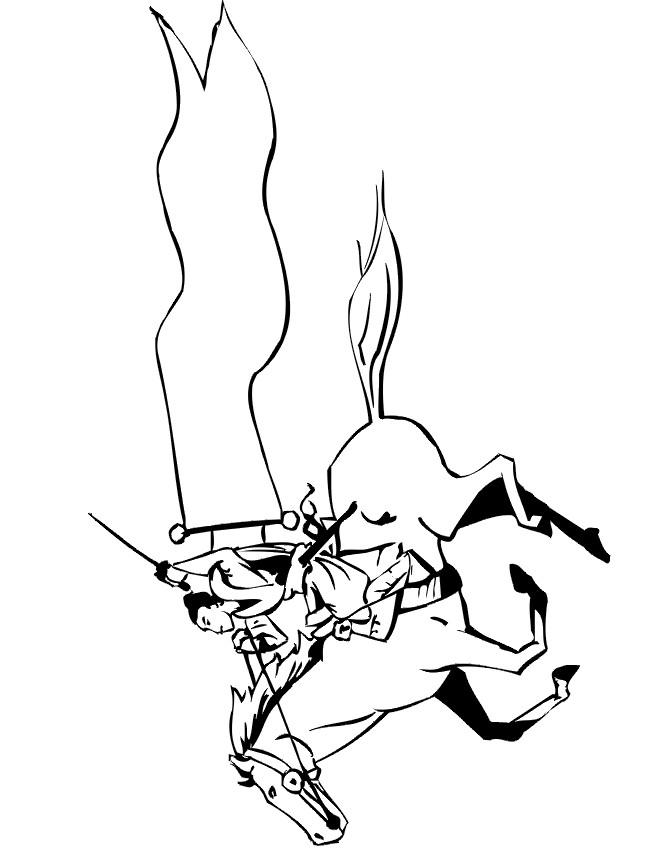Coloriage et dessins gratuits Guerrier Samourai sur cheval à imprimer