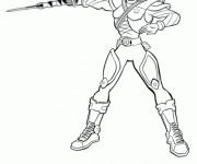 Coloriage Héro Samourai Power Rangers