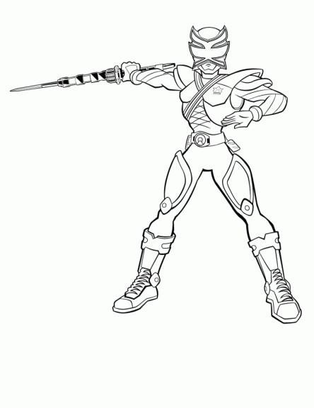 Coloriage et dessins gratuits Héro Samourai Power Rangers à imprimer