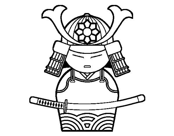 Coloriage et dessins gratuits Illustration Équipement Samourai à imprimer