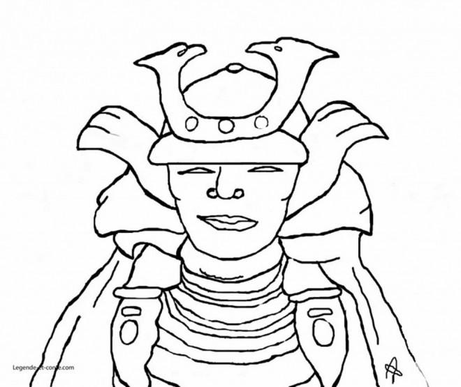 Coloriage et dessins gratuits Masque Samourai à imprimer