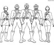 Coloriage Personnages de Samourai Power Rangers