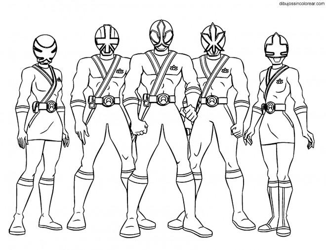 Coloriage et dessins gratuits Personnages de Samourai Power Rangers à imprimer