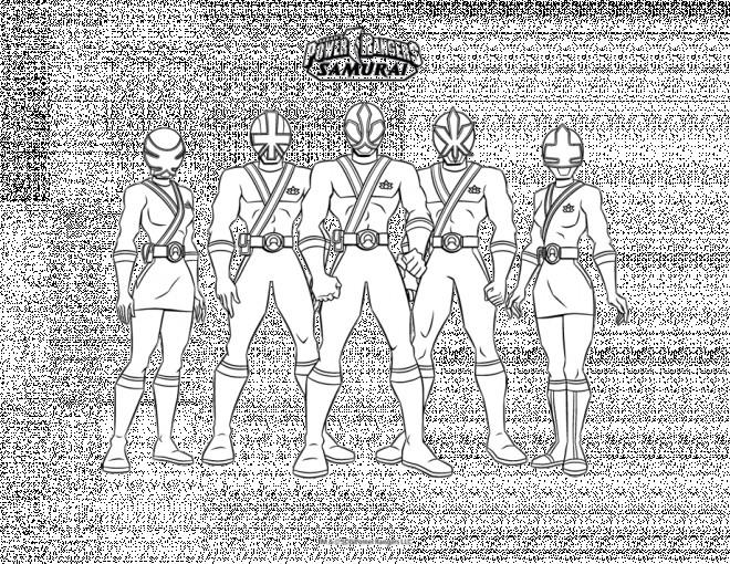 Coloriage et dessins gratuits PowerRangers Samourai à imprimer