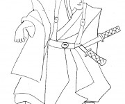 Coloriage Samourai 1