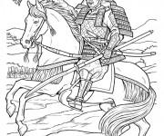 Coloriage Samourai 15