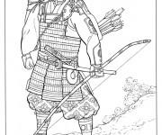 Coloriage Samourai 7