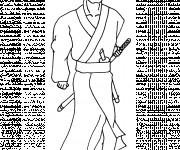 Coloriage Samourai 9