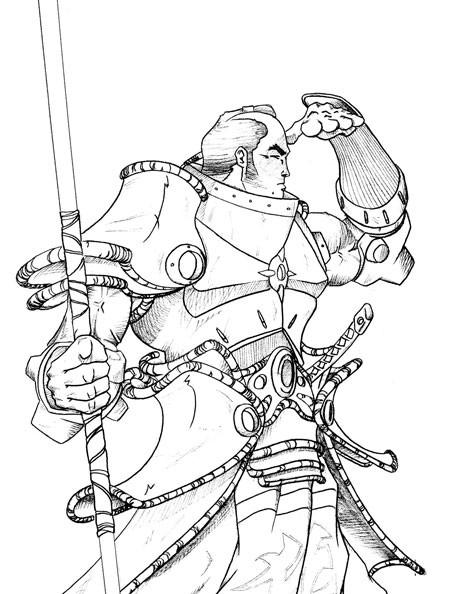 Coloriage et dessins gratuits Samourai à télécharger à imprimer