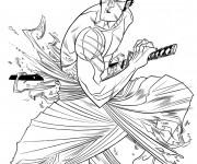 Coloriage Samourai Animation