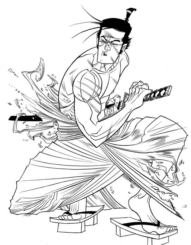 Coloriage et dessins gratuits Samourai Animation à imprimer