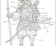 Coloriage Samourai Armure en ligne