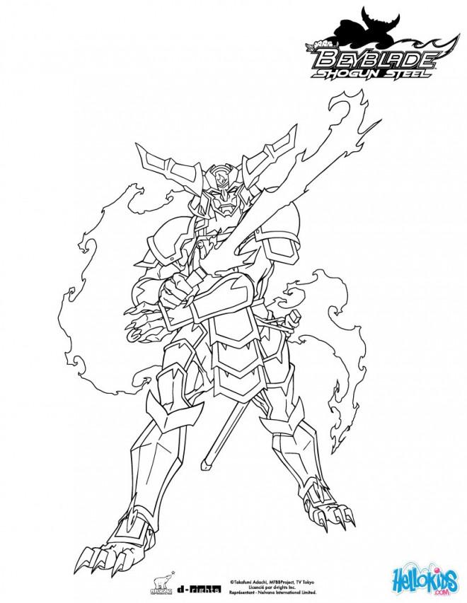 Coloriage et dessins gratuits Samourai Beyblade à imprimer