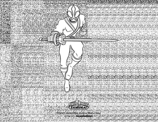Coloriage et dessins gratuits Samourai de Power Rangers à imprimer