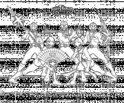 Coloriage Samourai Dessin animé