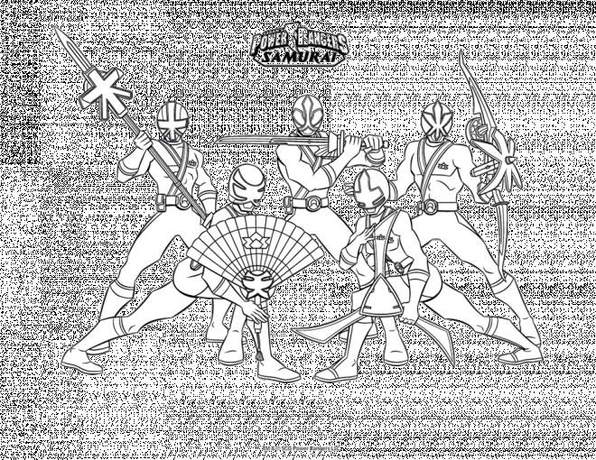 Coloriage et dessins gratuits Samourai Dessin animé à imprimer