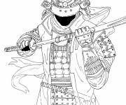 Coloriage Samourai en couleur