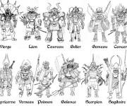 Coloriage Samourai et Horoscope