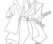 Coloriage Samourai Japonais
