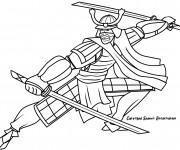 Coloriage Samourai pour adulte