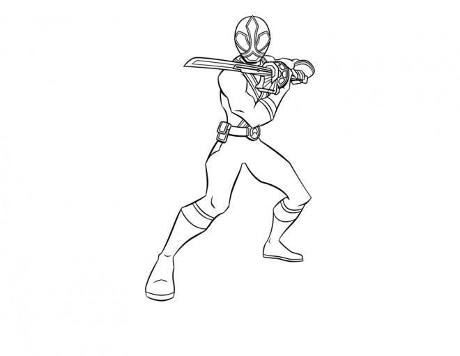 Coloriage et dessins gratuits Samourai Power Rangers à imprimer