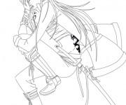 Coloriage Samourai stylisé