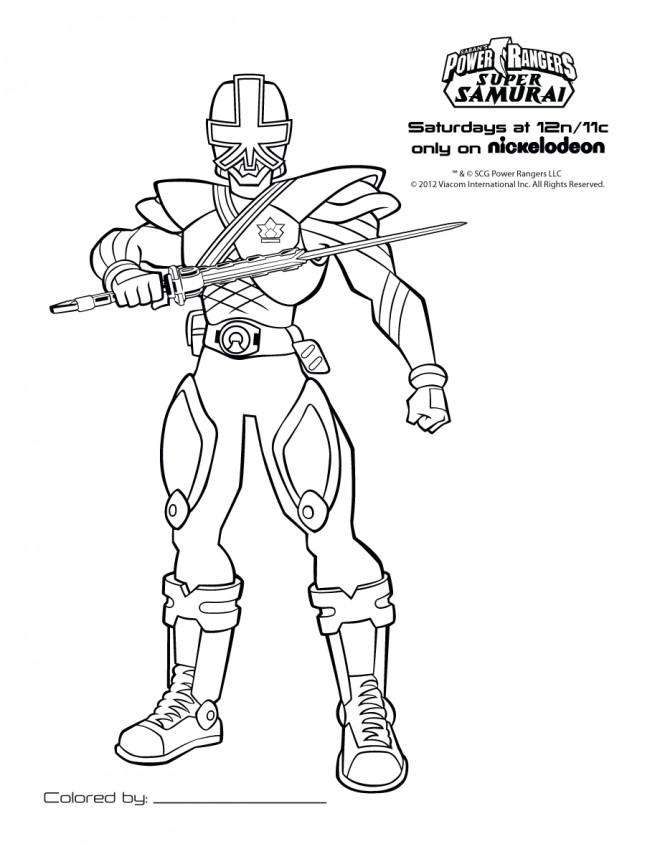 Coloriage et dessins gratuits Super Samourai à imprimer