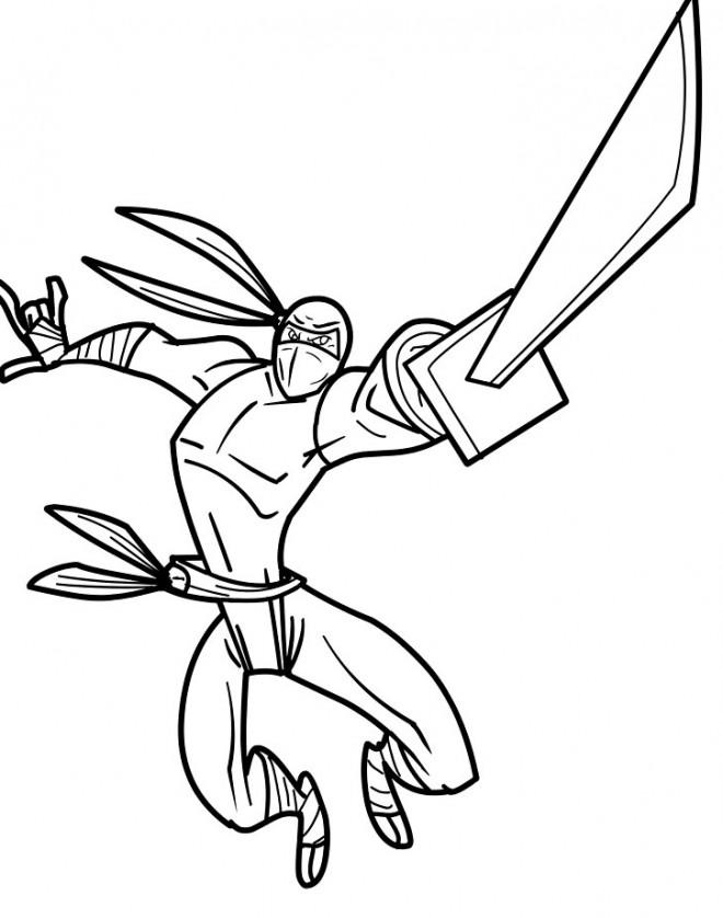 Coloriage et dessins gratuits Un Super Samourai magique à imprimer