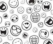 Coloriage Emoji en couleur