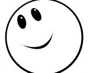 Coloriage Emoji heureux
