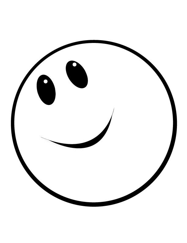 Coloriage Emoji Heureux Dessin Gratuit A Imprimer