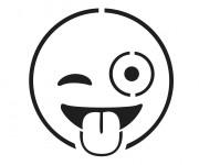 Coloriage Emoji Insolent