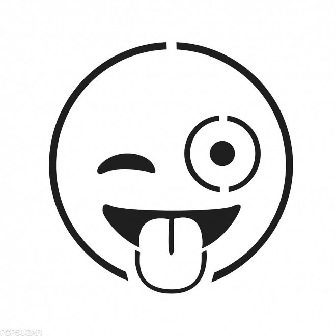 Coloriage Emoji Insolent Dessin Gratuit à Imprimer
