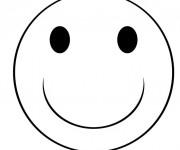 Coloriage Emoji sourire