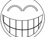 Coloriage dessin  Smiley 1