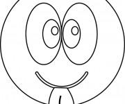 Coloriage dessin  Smiley 10