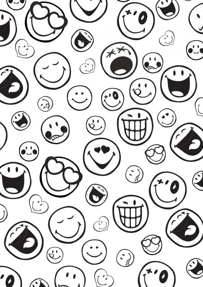 Coloriage smiley 12 dessin gratuit imprimer - Smiley coloriage ...