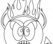 Coloriage dessin  Smiley 16