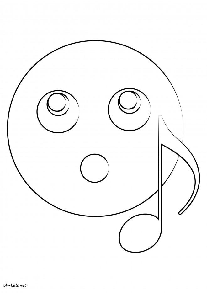 Coloriage et dessins gratuits Smiley À l'écoute à imprimer