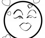 Coloriage Smiley amoureux