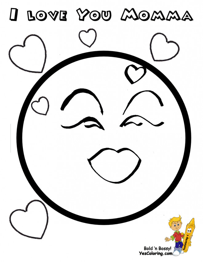 Coloriage et dessins gratuits Smiley amoureux à imprimer