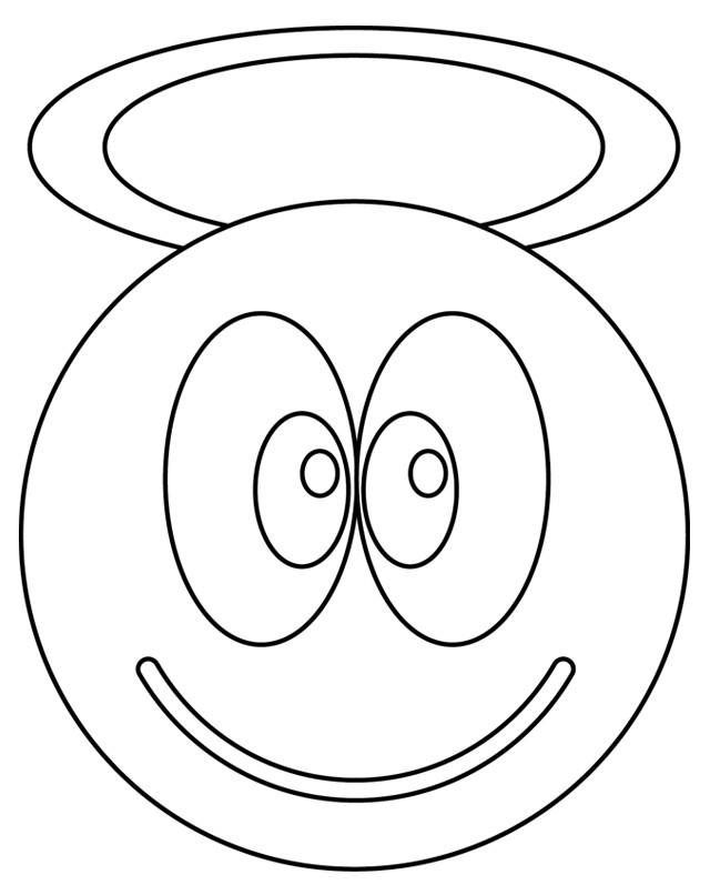 Coloriage et dessins gratuits Smiley Ange à imprimer