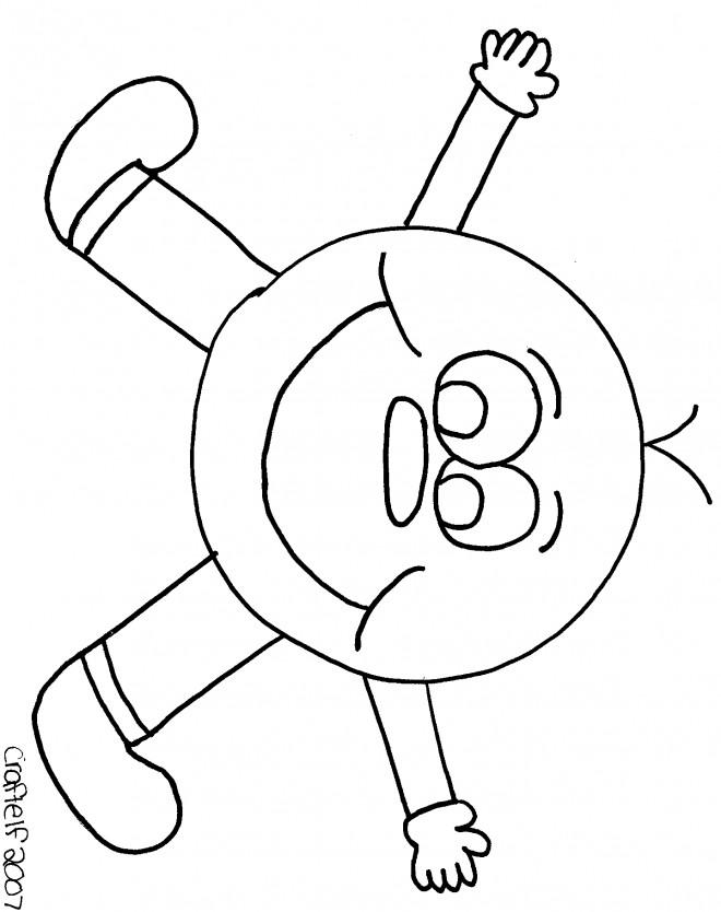 Coloriage et dessins gratuits Smiley avec des Mains à imprimer