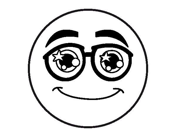 Coloriage et dessins gratuits Smiley Cool à imprimer