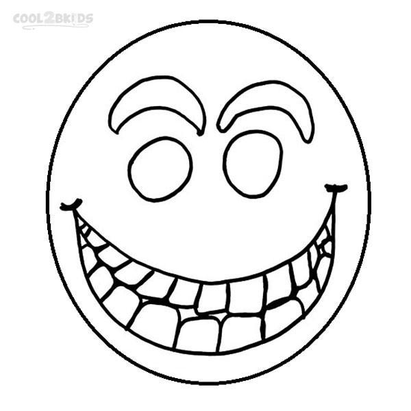 Coloriage et dessins gratuits Smiley Démon à imprimer