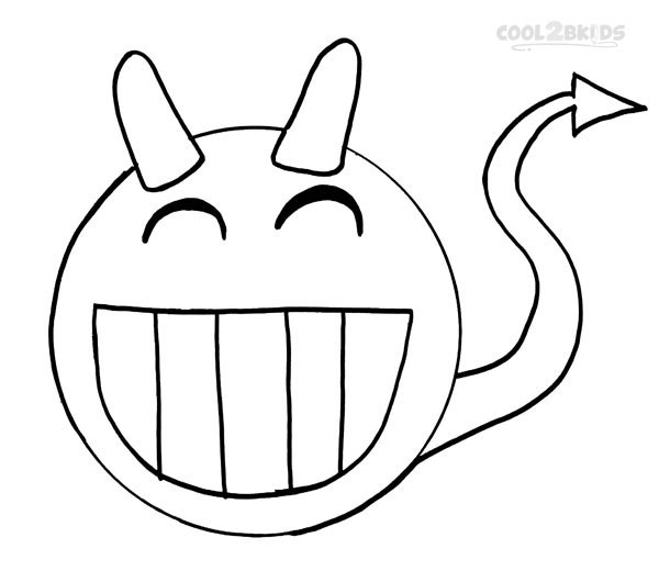 Coloriage et dessins gratuits Smiley Démon stylisé à imprimer